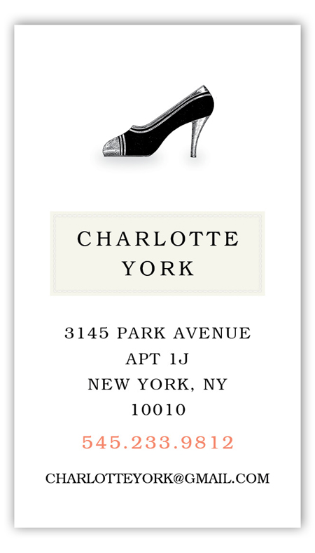 Charlotte High Heel Calling Card