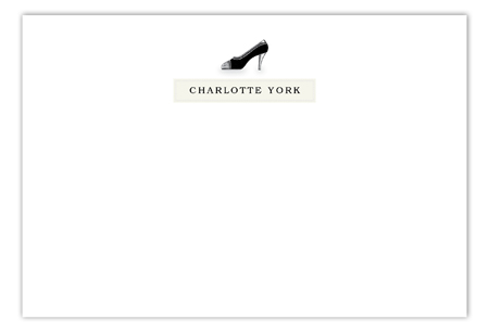 Charlotte High Heel Flat Note Card