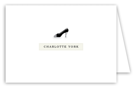 Charlotte High Heel Note Card