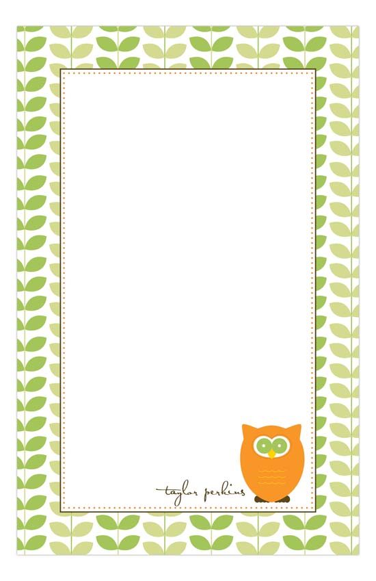 Charming Owl Notepad