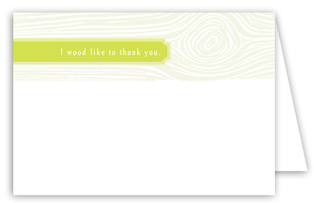 Chartreuse Woodgrain Note Card