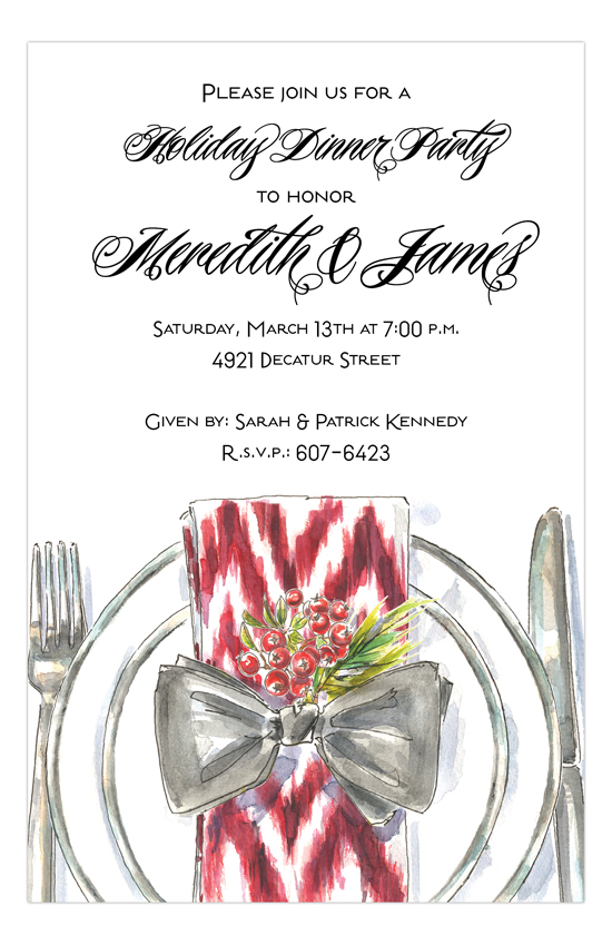 Cheerful Plate Invitation