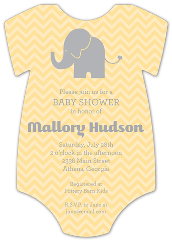 chevron-elephant-onesie-invitation-pddd-nponbs1316 When to Throw a Baby Shower