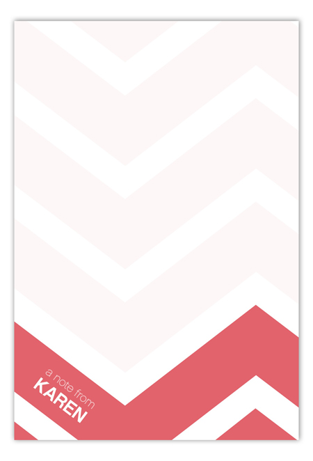 Chevron Large Flat Note Card
