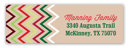 Chevron Ornament Address Label