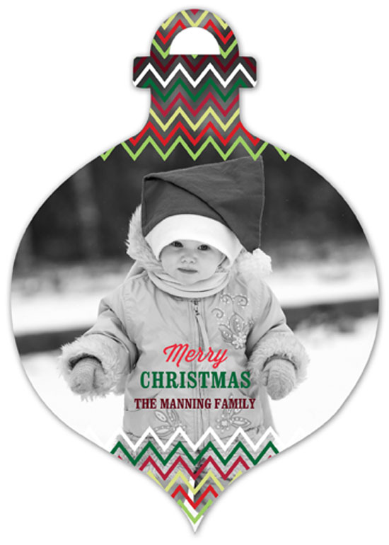 Chevron Ornament Photo Card