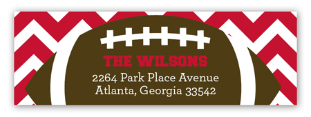 Chevron Tailgate Address Label