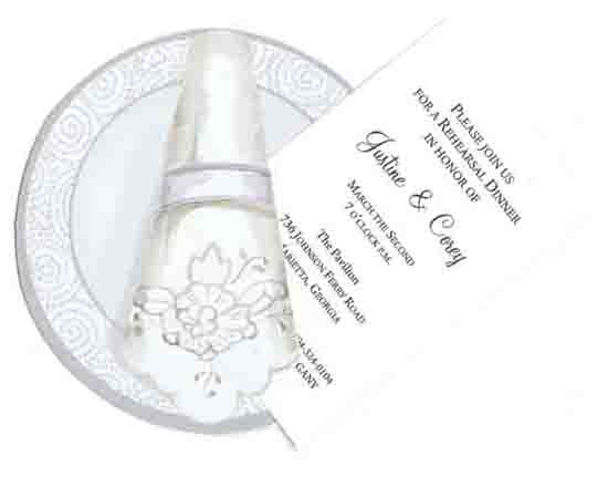 China Plate With Swirls Invitation