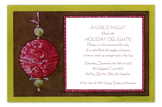 Chocolate and Cherry Invitation