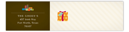 Chocolate Pretty Packages Envelope Wrap Address Label