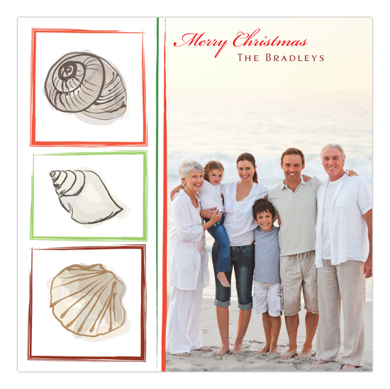 Christmas at the Beach Photo Card