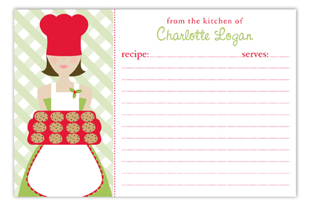 Christmas Baker Recipe Card