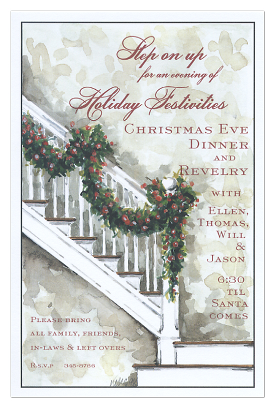 Christmas Banister Invitation