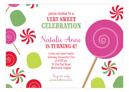 christmas candyland invitation