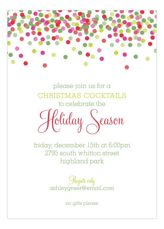 Christmas Confetti Invitation