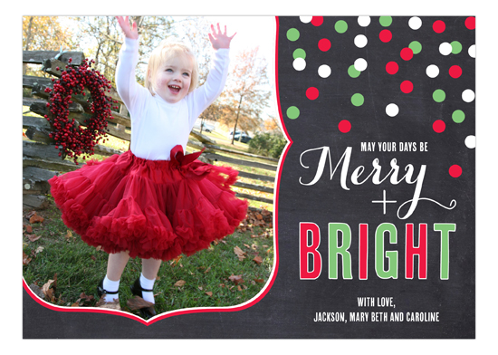 Christmas Confetti Photo Card
