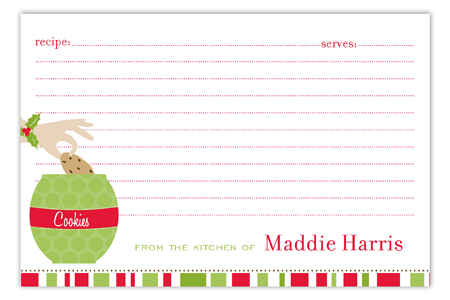 Christmas Recipe Card Templates