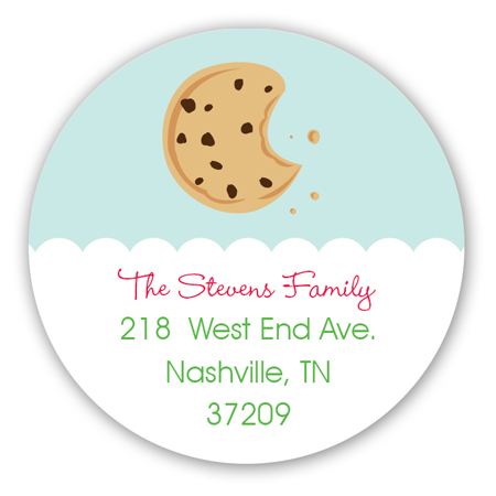 Christmas Cookies Delight Round Sticker