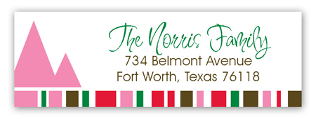 Christmas Memories Address Label