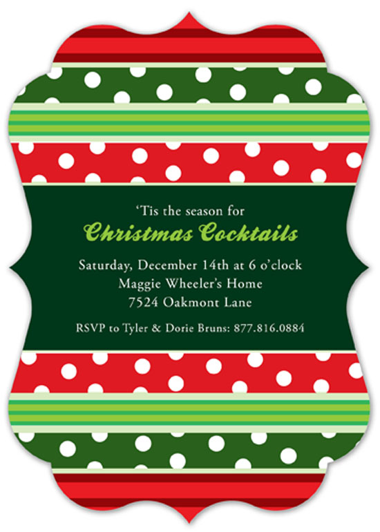 Christmas Patterns Invitation
