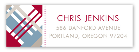 Christmas Plaid Address Label