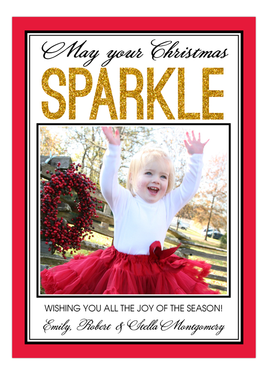 Christmas Sparkle Photo Card