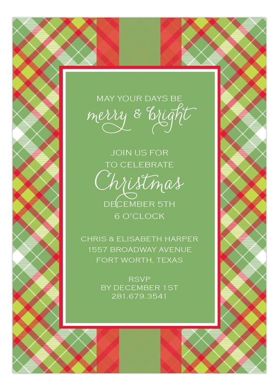Christmas Tartan Invitation