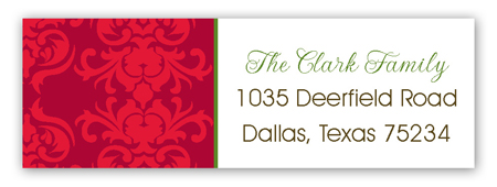 Christmas Tea Address Label