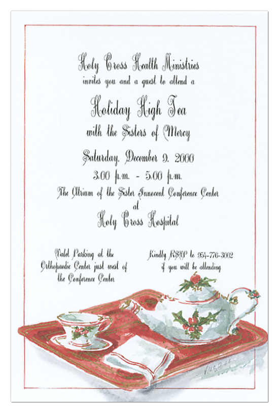 Christmas Tea Party Invitations for the Holidays