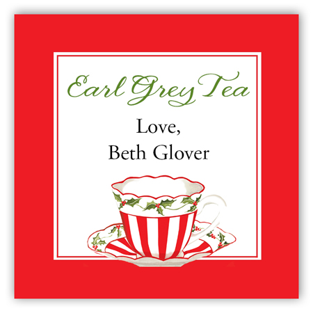 Christmas Earl Grey Tea Square Sticker