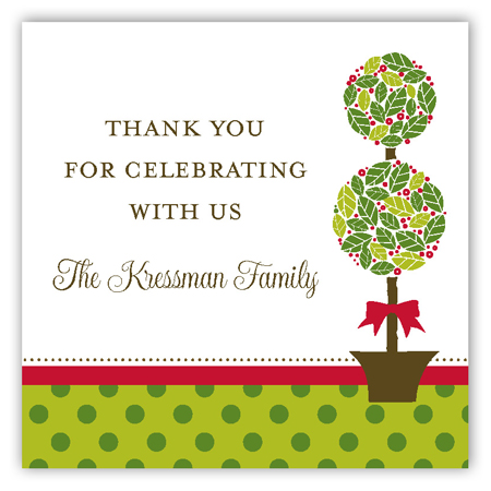 Christmas Topiary Square Sticker