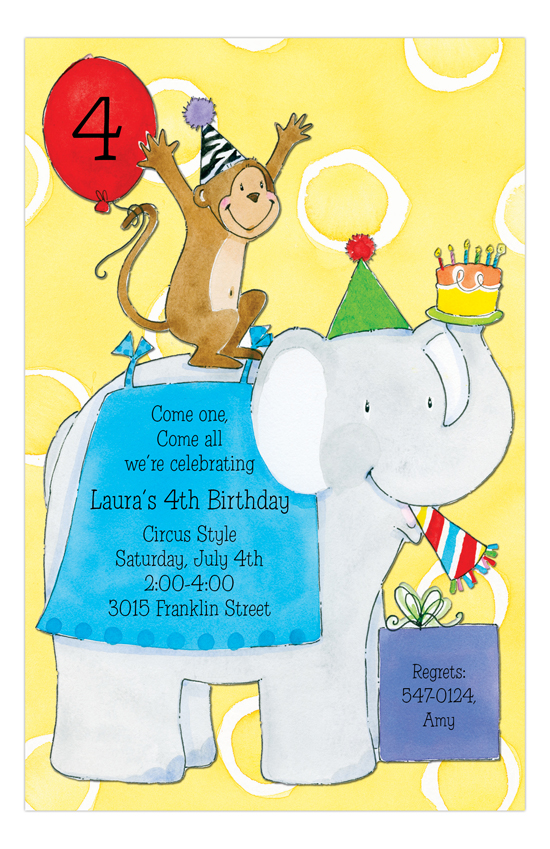 Circus Fun Invitation