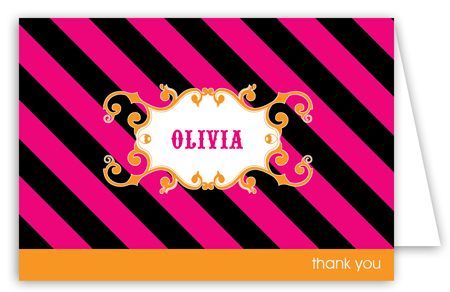 Cirque Du Bebe Girl Note Card
