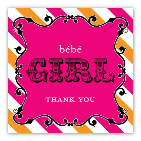 Cirque Du Bebe Girl Sticker