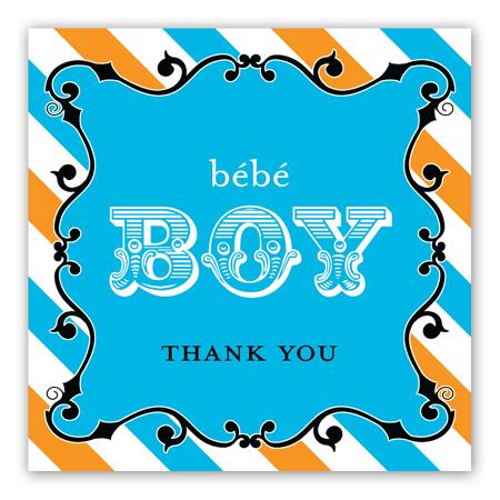 ... Cirque du Bebe Stickers : Baby Shower Stickers  PolkaDotDesign.com