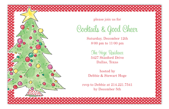 Classic Christmas Tree Invitation