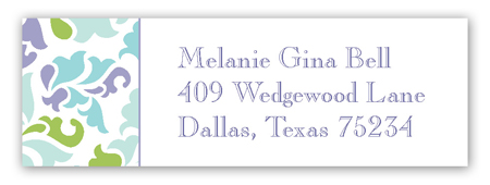 Classy Floral Address Label