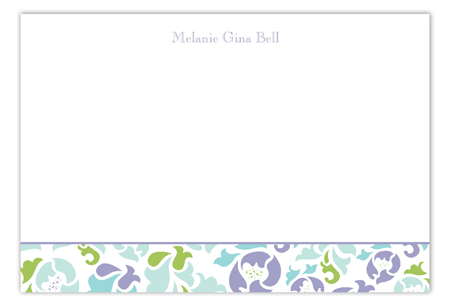 Classy Floral Flat Note Card