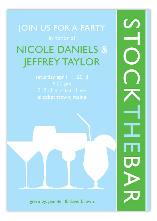 Cocktail Silhouettes Invitation