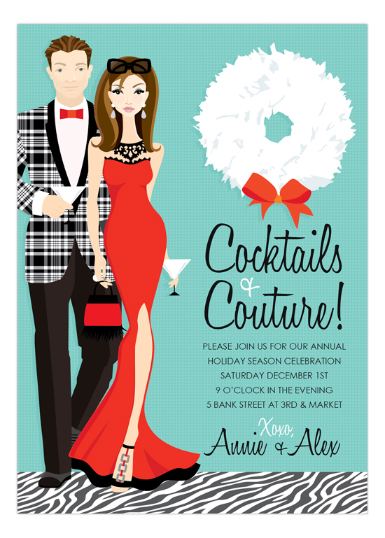 Cocktails + Couture Invitation