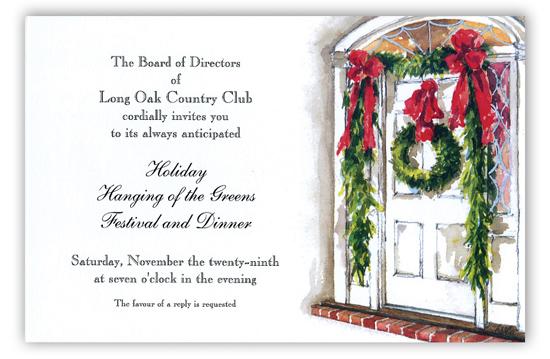 odd balls colonial entry christmas invitation   holiday