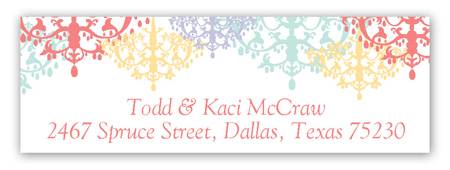 Colorful Chandeliers Address Label