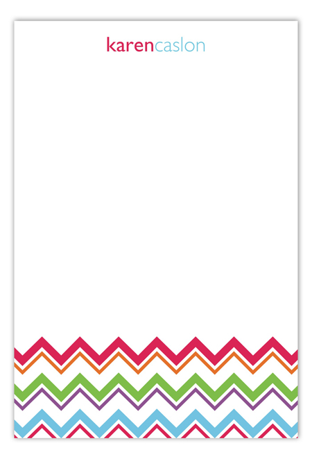Colorful Chevron Flat Note Card