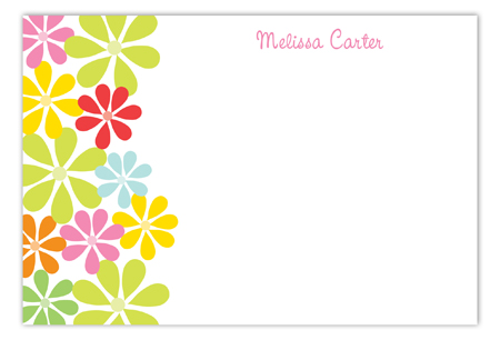Colorful Daisy Flat Note Card