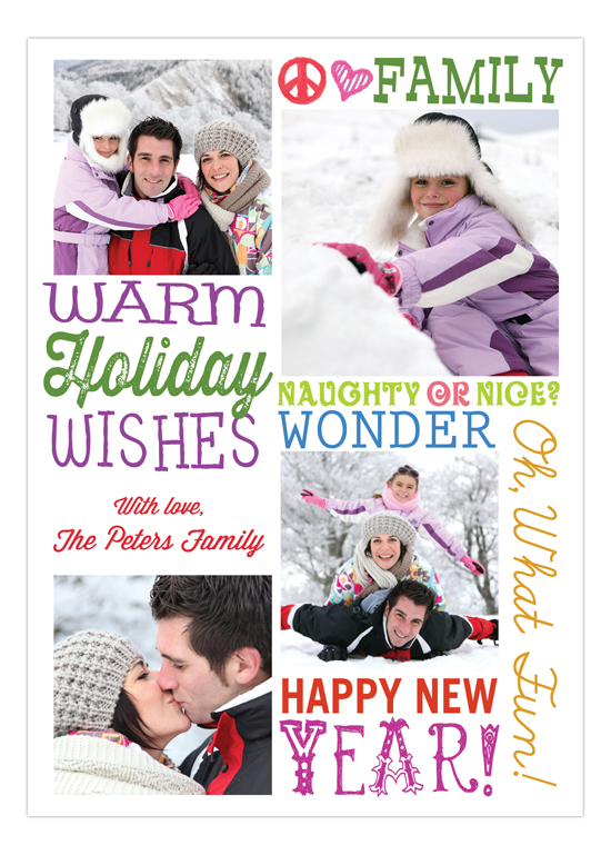 Colorful Warm Holiday Wishes Photo Card
