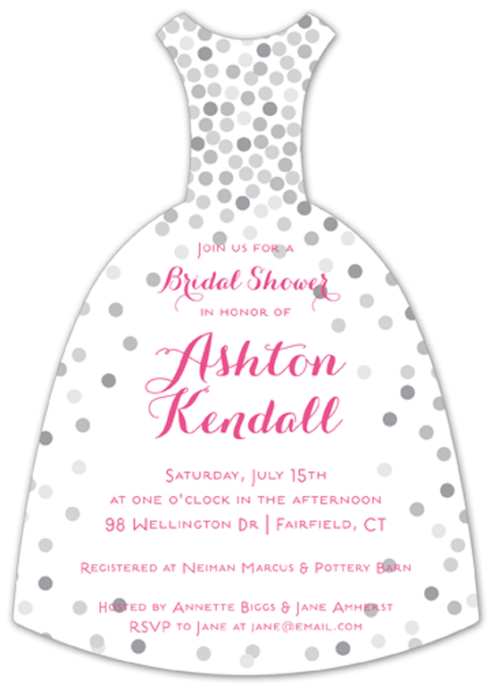 Confetti Bride Invitation