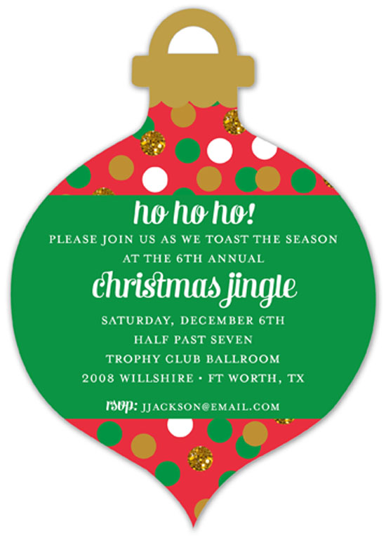 Confetti Glitter Ornament Invitation