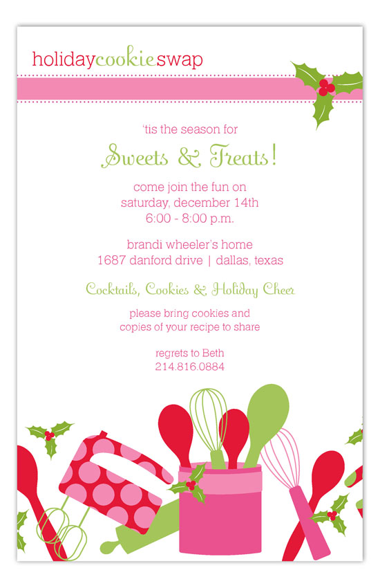 Cookie Bake Invitation
