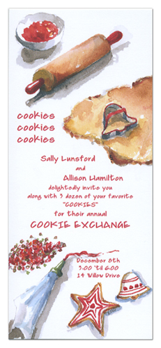 Sugar Cookie Exchange Invitations