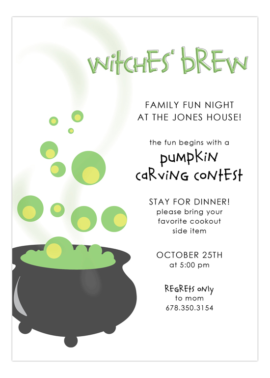 Cooking Cauldron Invitation